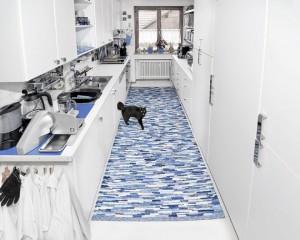 Moderne Architektur trifft auf Klassiker: der Fleckerlteppich